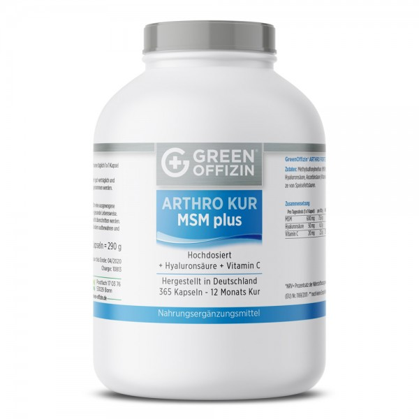 Green Offizin Arthro Kur MSM Plus 365