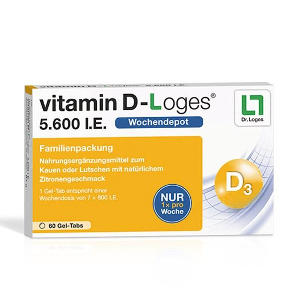 vitamin D-Loges® 5.600 I.E. - 60 Kautabletten