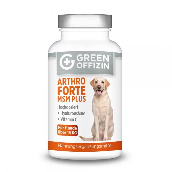 Green Offizin - Arthro Forte MSM Plus für Hunde über 15kg - 120 Kapseln