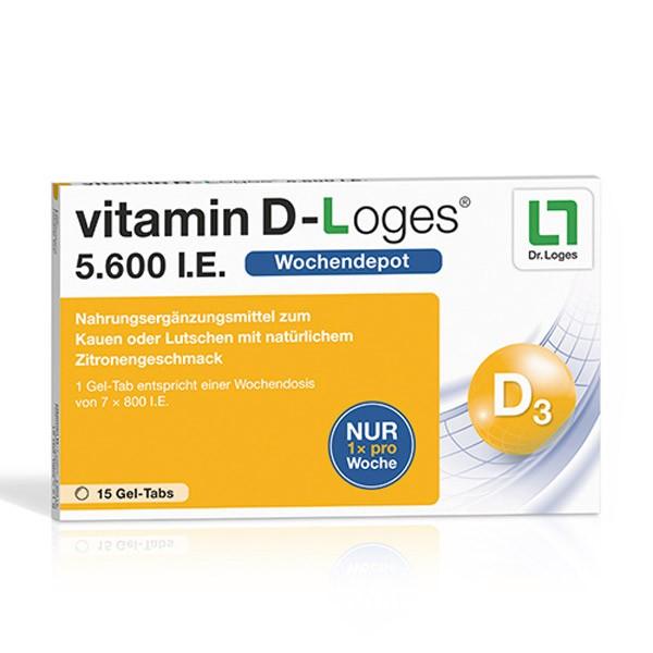 vitamin D-Loges® 5.600 I.E. - 15 Kautabletten