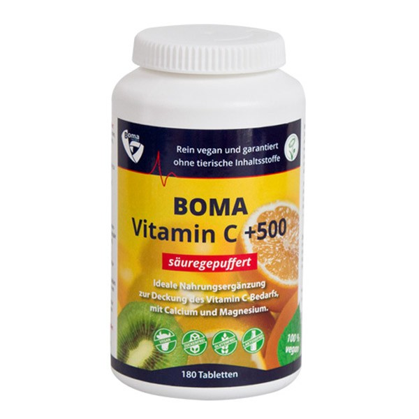 BOMA-Lecithin Säuregepuffertes Vitamin C +500 - 180 Tabletten