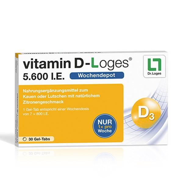 vitamin D-Loges® 5.600 I.E. - 30 Kautabletten