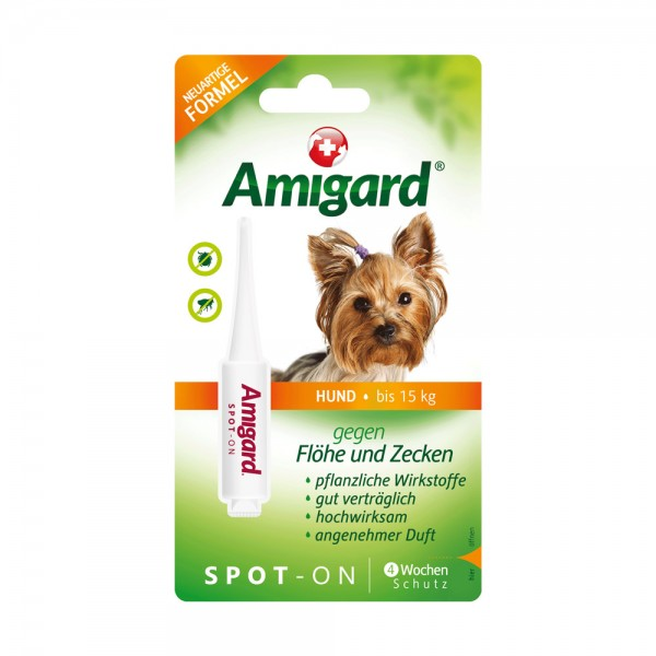 Amigard Spot on Hund bis 15 kg - 2 ml