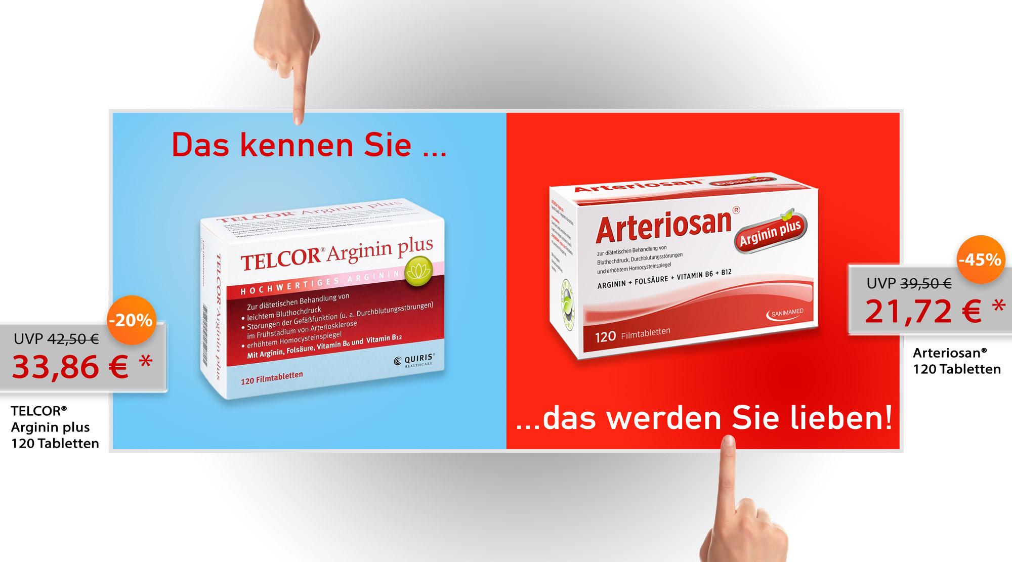 Vergleich-Telcor_Arginin_Plus_Arteriosan_Banner