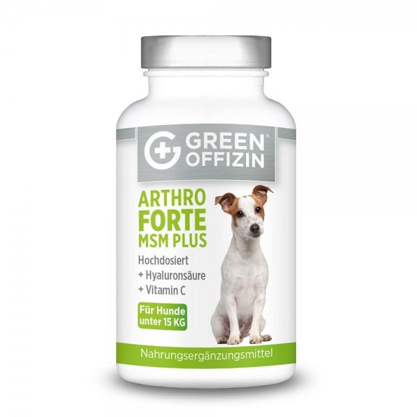 Green Offizin - Arthro Forte MSM Plus für Hunde unter 15kg - 120 Kapseln