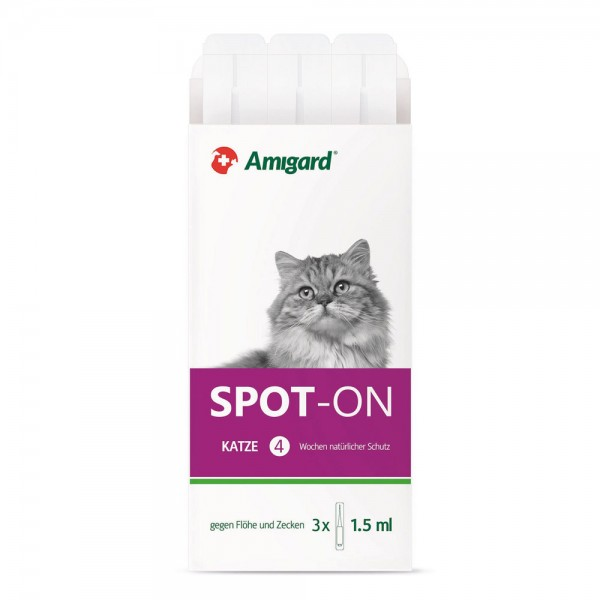 Amigard Spot on Katze - 3 x 1,5 ml