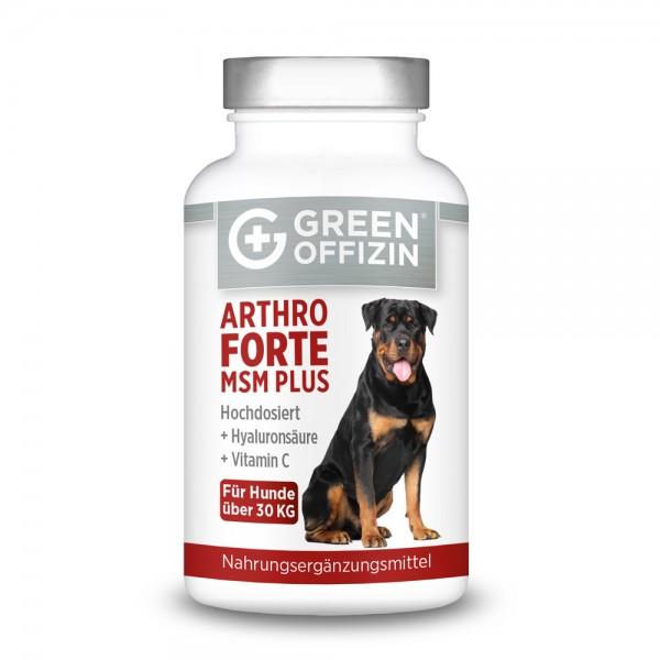 Green Offizin - Arthro Forte MSM Plus für Hunde über 30kg - 120 Kapseln